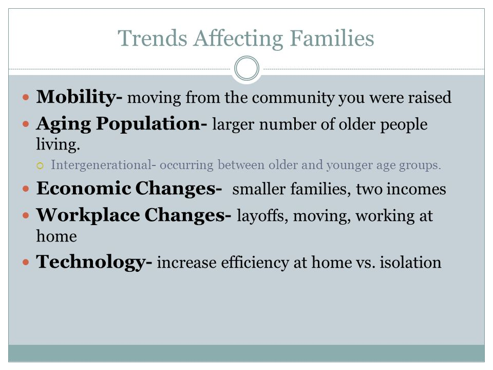Trends Affecting Families