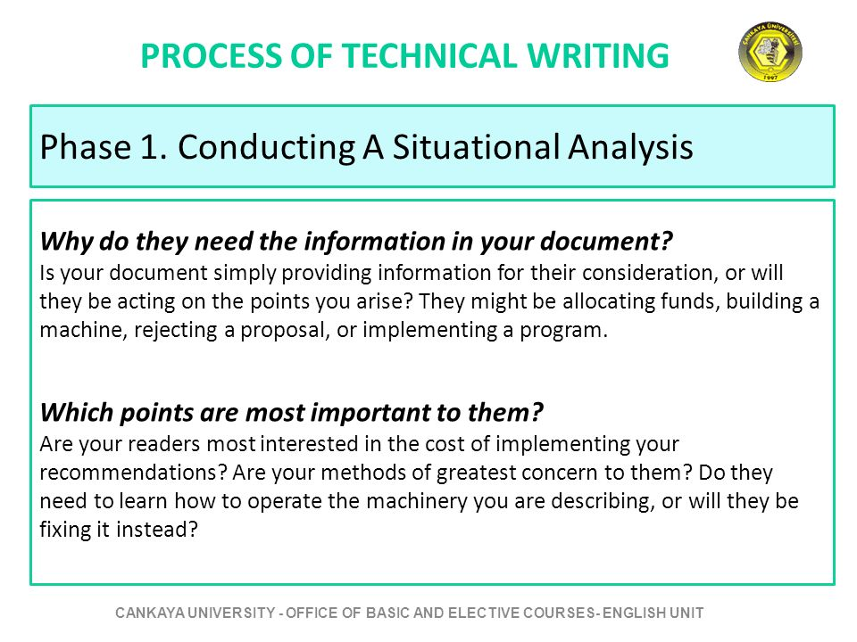 Courses for technical writing
