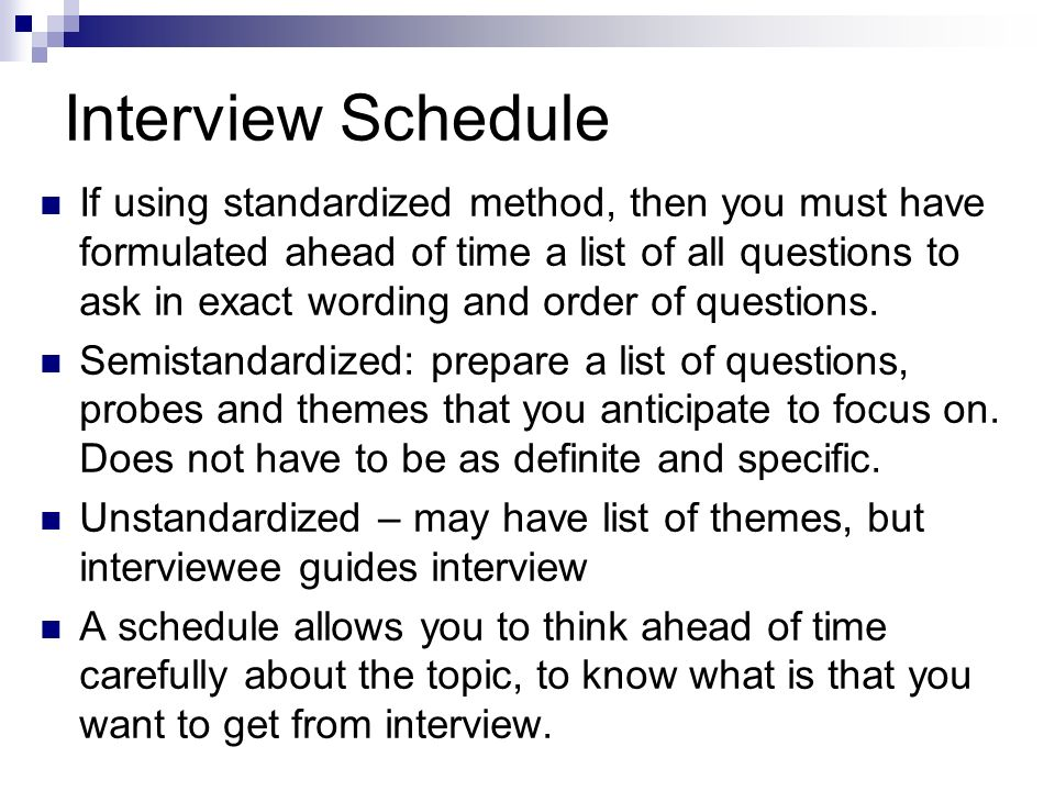interview experience essay