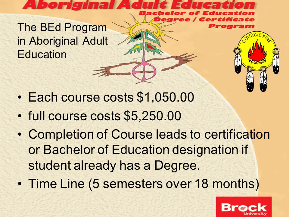 The BEd Program in Aboriginal Adult Education
