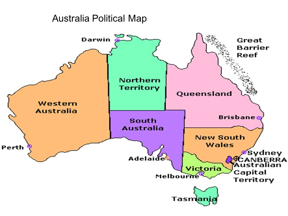 Australia Political Map AYERS ROCK Uluru Considered The Largest - Australia political map
