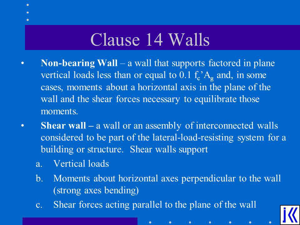 Clause 14 Walls