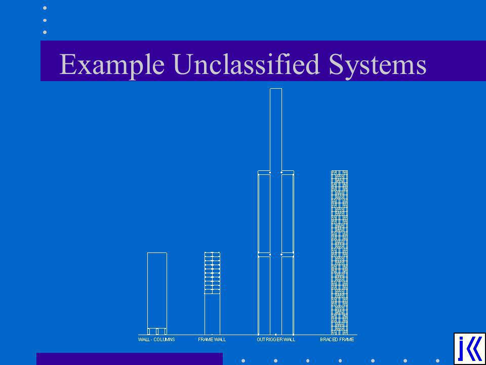 Example Unclassified Systems