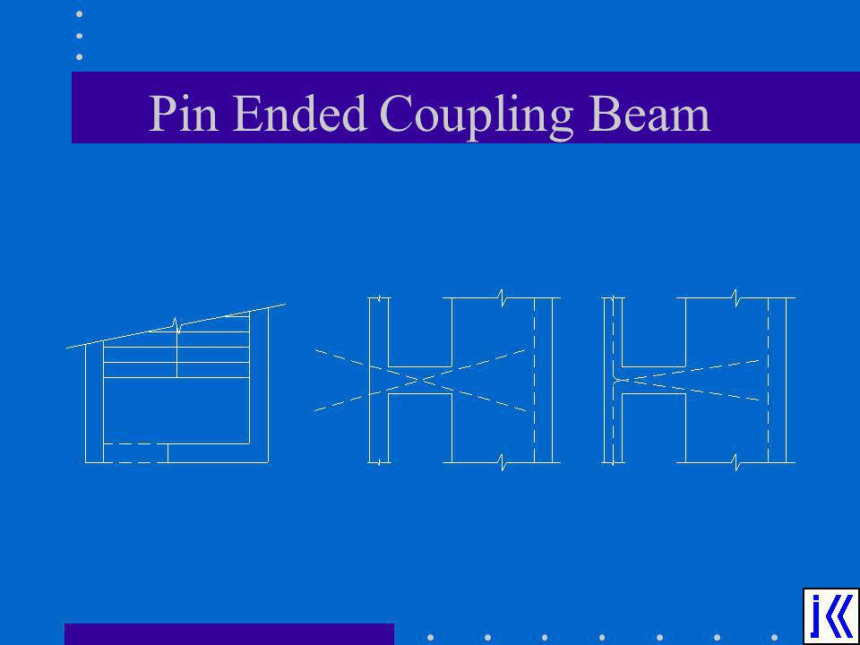 Pin Ended Coupling Beam