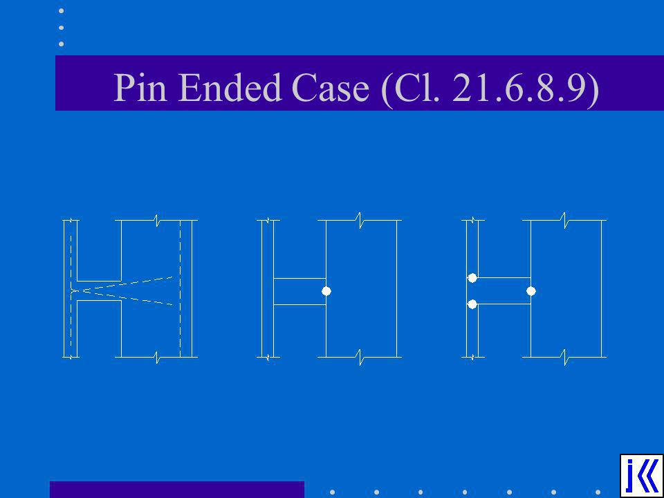 Pin Ended Case (Cl. 21.6.8.9)