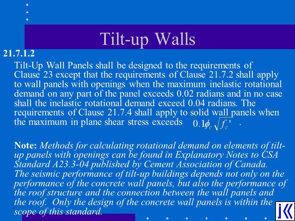 Tilt-up Walls 21.7.1.2.