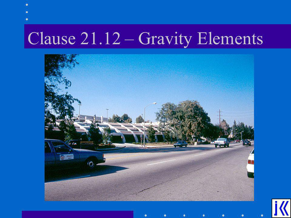 Clause – Gravity Elements