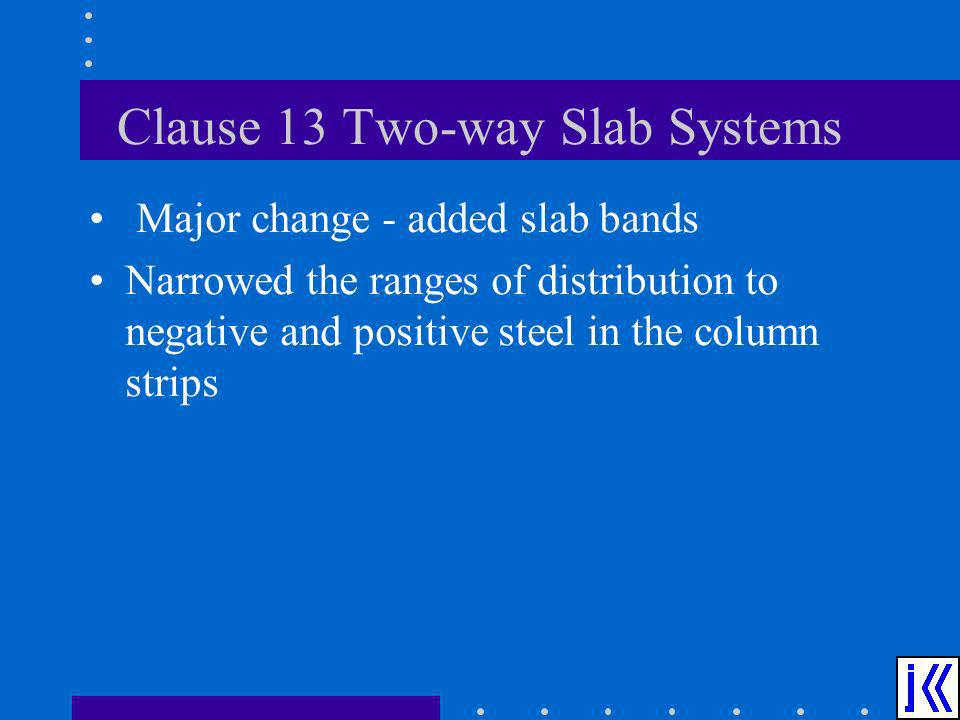 Clause 13 Two-way Slab Systems