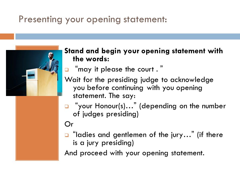 opening statment