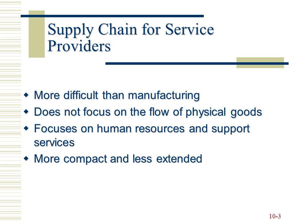 service supply chain management pdf