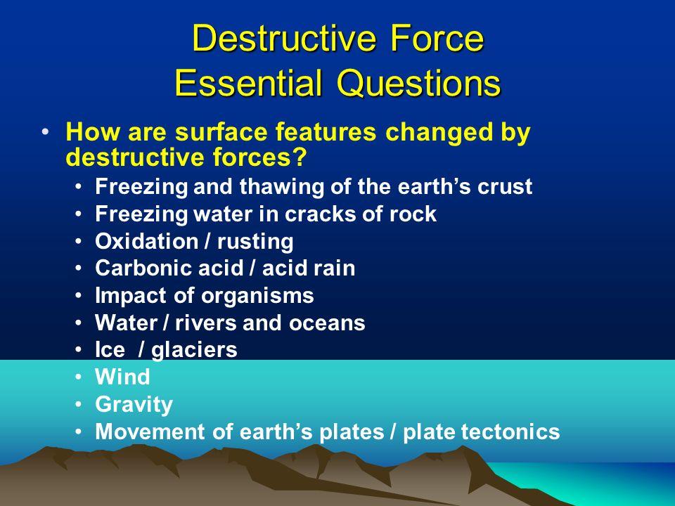 Carbonic >> Constructive & Destructive Forces Shaping the Earth's Landscape - ppt download
