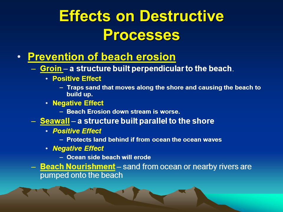 an overview of soil erosion and its devastating effects Weathering, erosion, and  the soil around its foundation  effects on barrier islands by creating overwash areas and eroding.