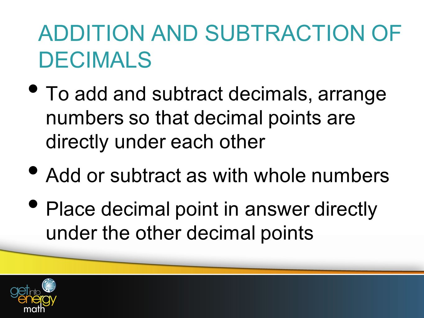 Fractions From Whole Numbers Worksheet Findingmon Denominator Howto Video · Adding  Addition And Subtraction Of Decimals