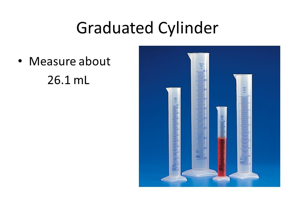 Graduated Cylinder Measure about 26.1 mL