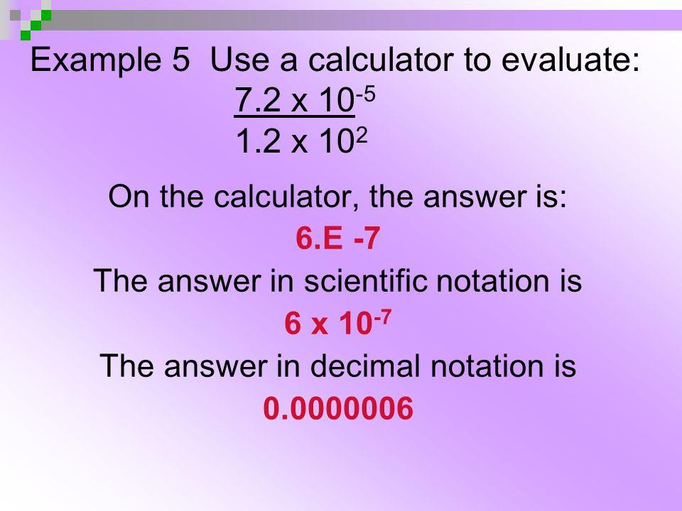 Math Skills Scientific Notation