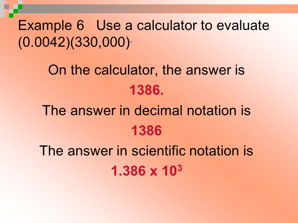 Calculator Notation - Examples