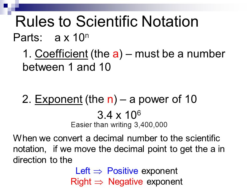Scientific Notation Rules Idealstalist