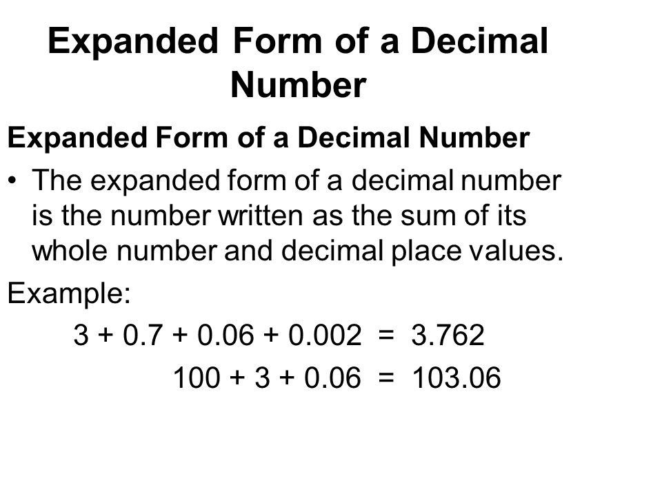 4/21/2017 Decimals In our number system, digits can be placed to ...