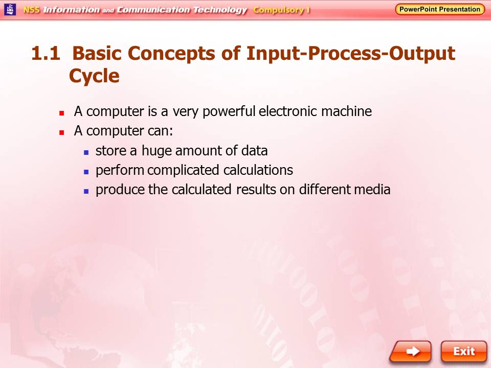 1.1 Basic Concepts of Input-Process-Output Cycle