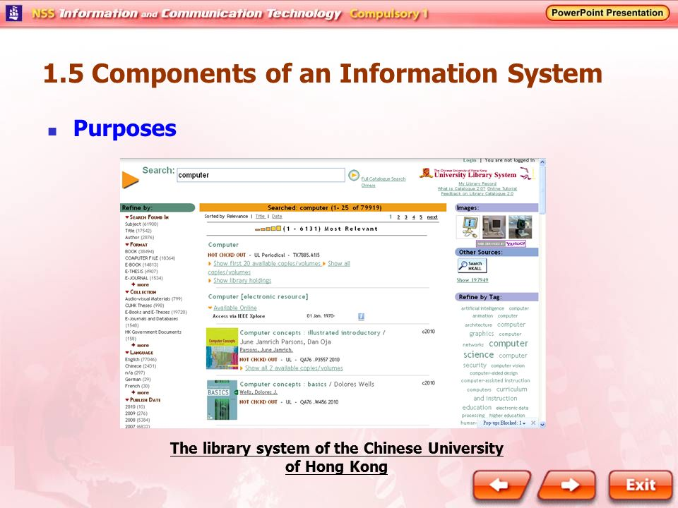 The library system of the Chinese University of Hong Kong