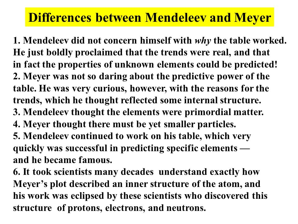 Periodic Table mendeleevs periodic table helped predict properties of : History of the Periodic Table of the Elements - ppt video online ...