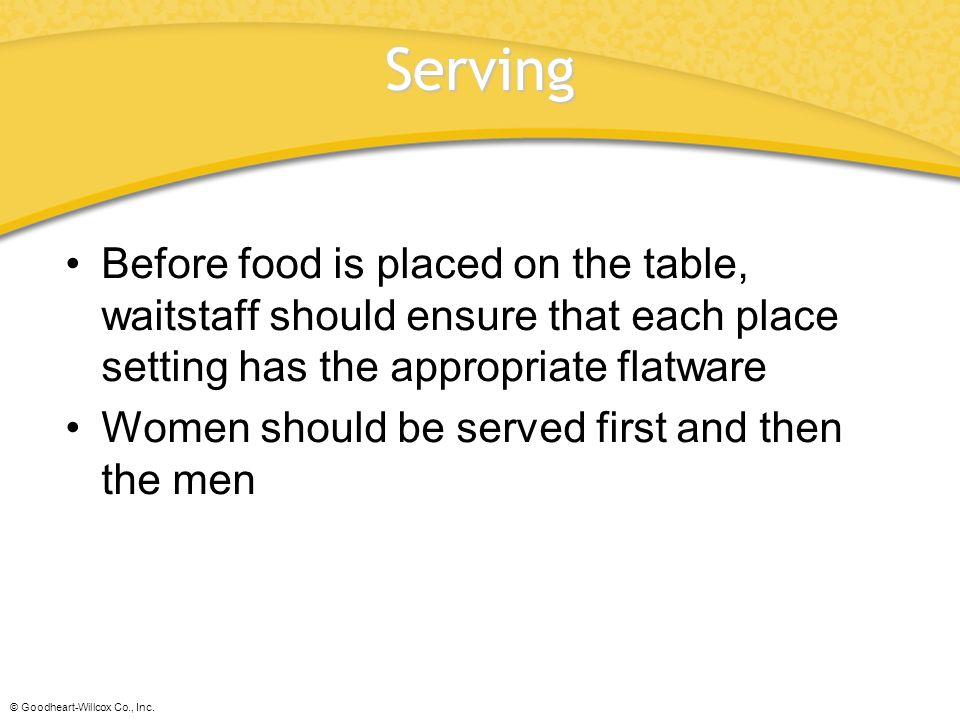 Chapter 45 Table Service. Chapter 45 Table Service. - ppt download