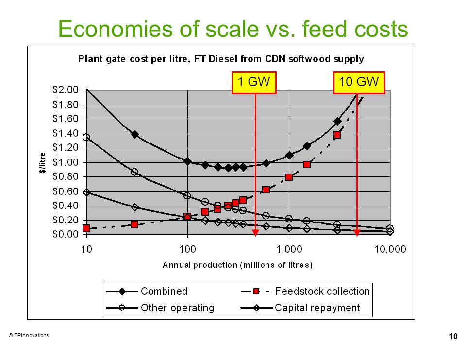 Economies of scale vs. feed costs