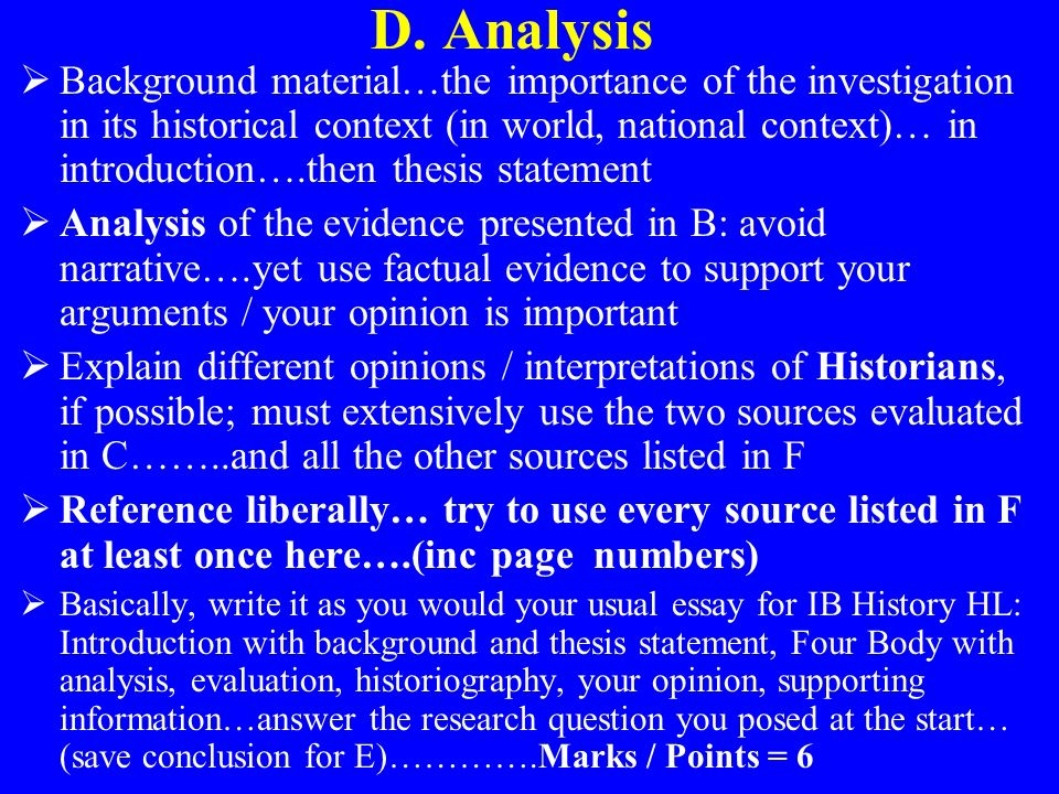 how to write an evaluation of sources ib history internal assessment