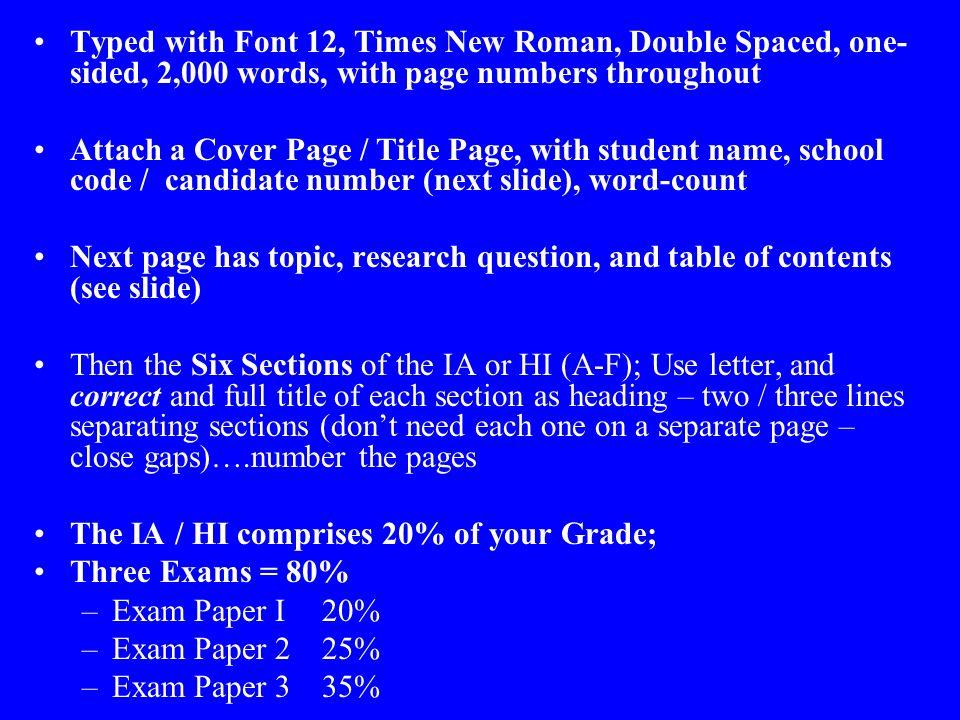 essay structure ib