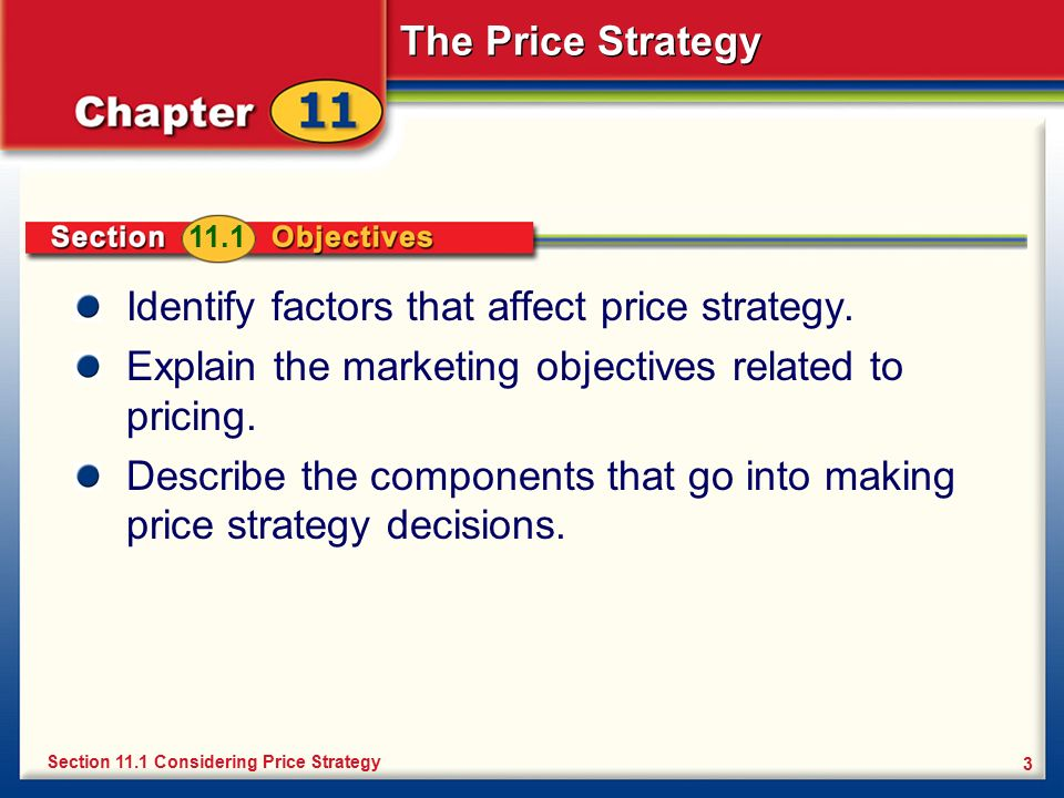 factors that determine the price of