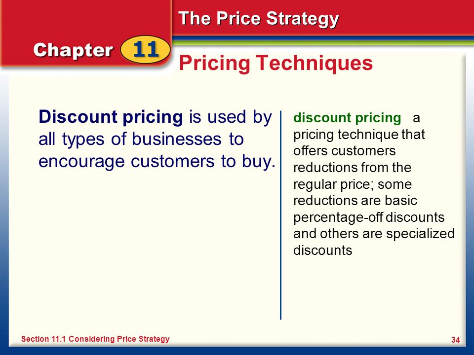 explain the types of pricing strategy Market strategies this  though pricing strategy and computations can be complex, the basic rules of pricing are straightforward: 1 all prices must cover costs 2.