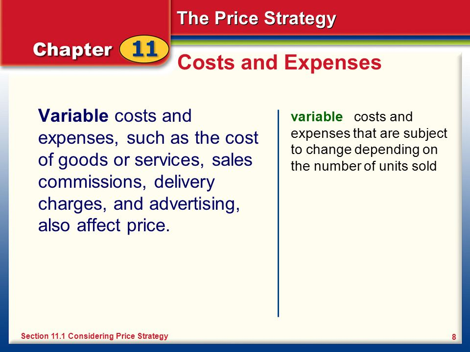 variable cost and new strategy Variable-cost pricing offers an adventurous variation on cost-plus pricing instead of adding a markup on total cost, variable-cost pricing adds a markup on just the.