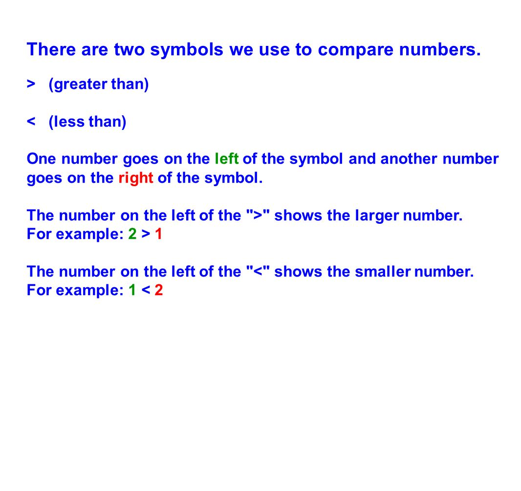 5th grade decimal concepts ppt download there are two symbols we use to compare numbers biocorpaavc Image collections