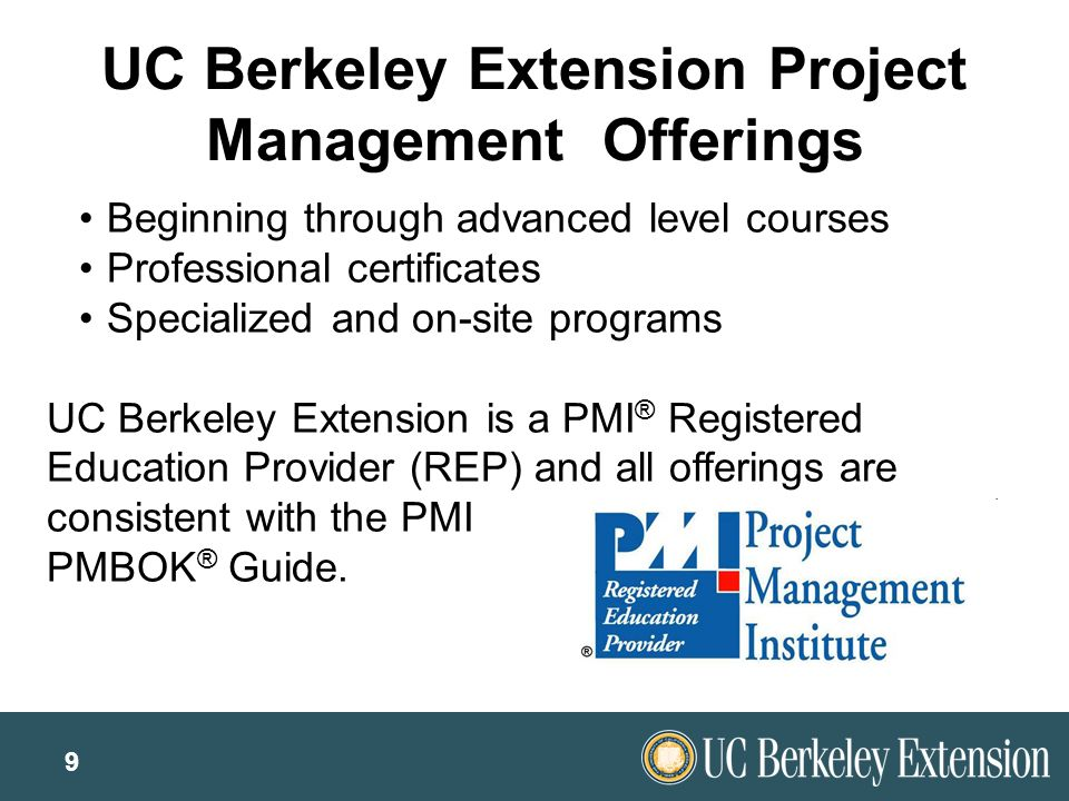 berkeley project management Developing the project management plan along with selecting a corridor and defining project goals and scope, it was essential to develop a plan for how the.