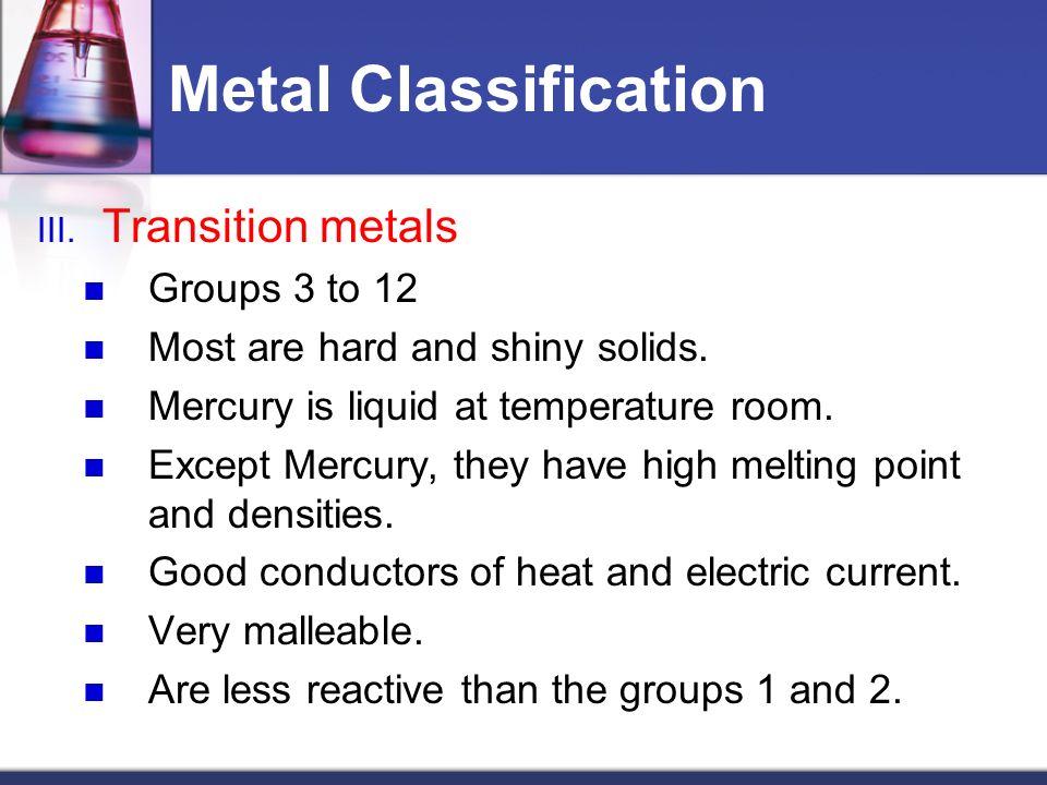 Transition Metals Liquid At Room Temperature
