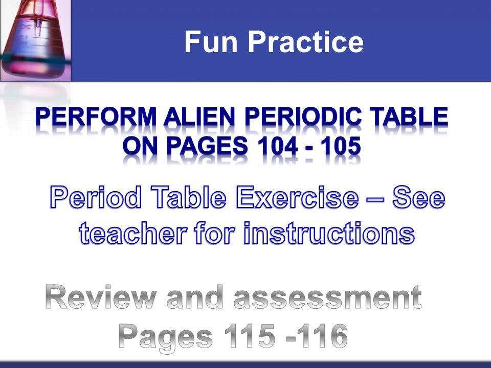 Periodic table an alien periodic table answers periodic table elements and periodic table ppt video online download urtaz Choice Image