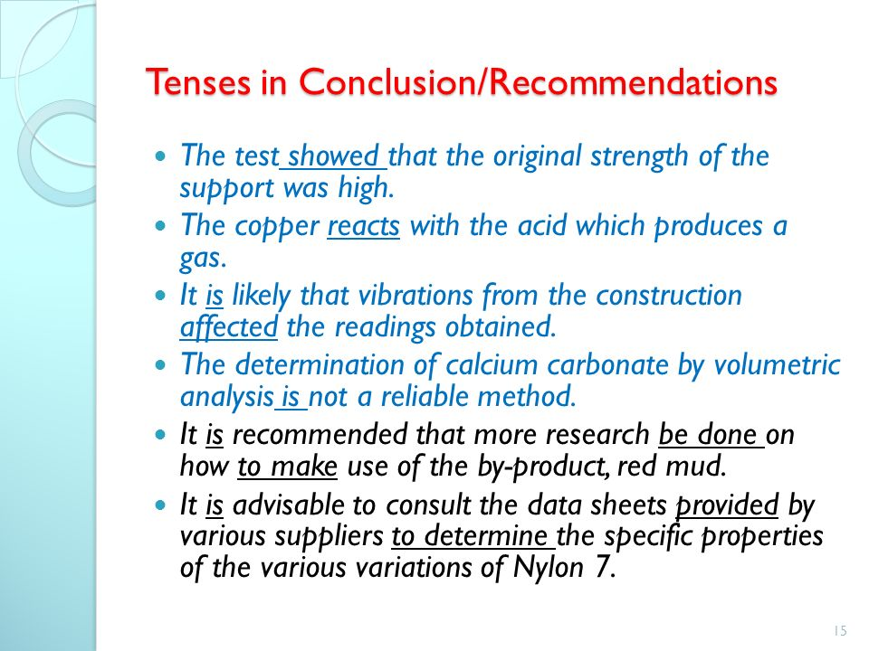 recommendations in a thesis paper Then read silverman's comments (below) on what the point of the final thesis chapter is since all reports chapter seven: conclusions and recommendations 71 conclusions findings of chapter 6, in the investigation of the second research question, looked at the features of the stages on the lesson, in.