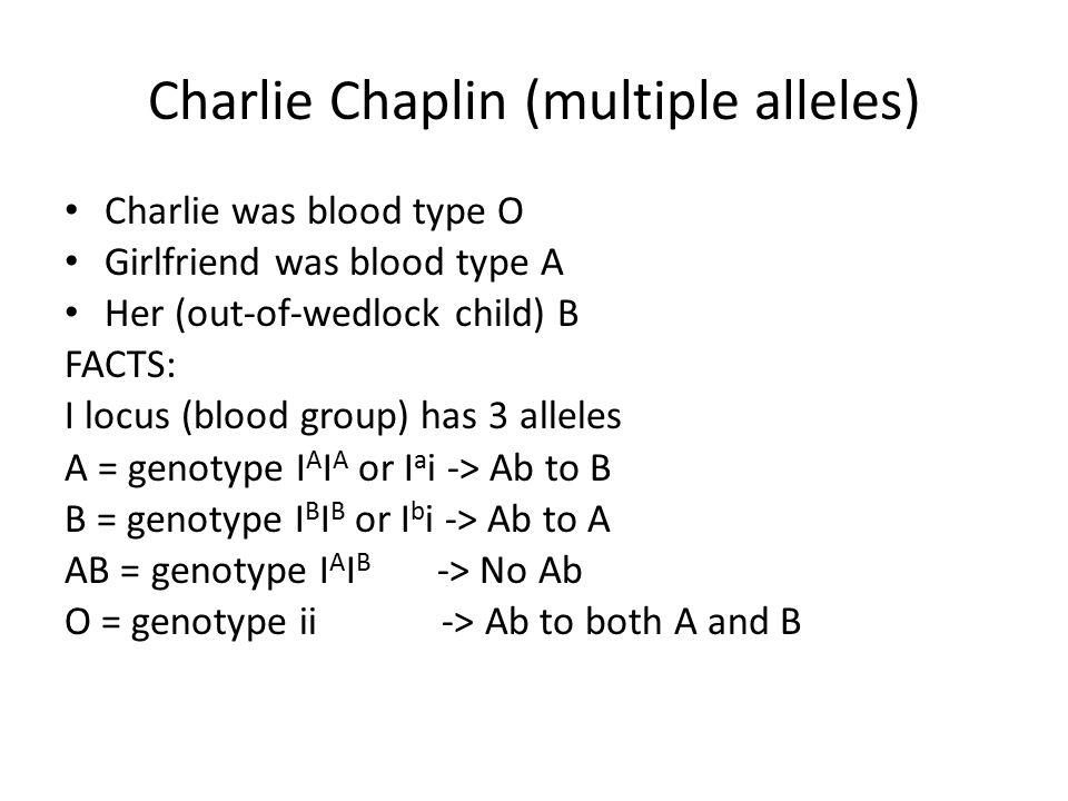 Charlie Chaplin (multiple alleles)
