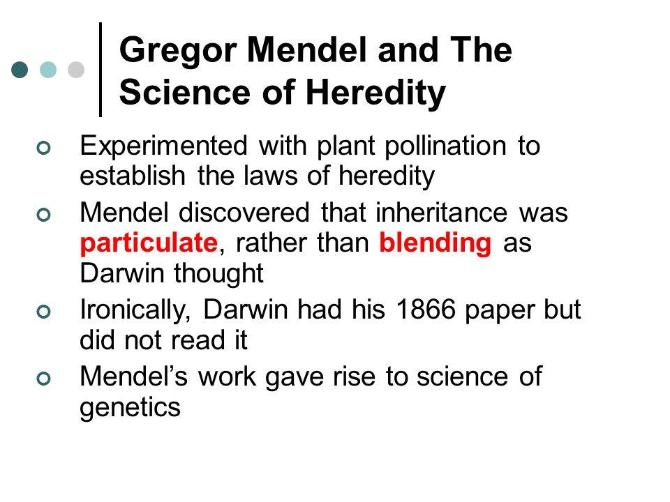 gregor mendel research paper
