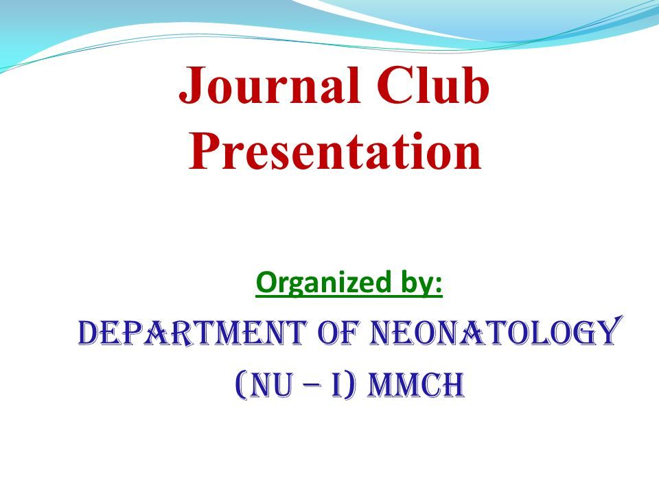 journal club presentation - ppt video online download, Powerpoint templates