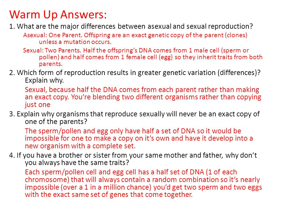 Difference between asexual and sexual reproduction photo 34