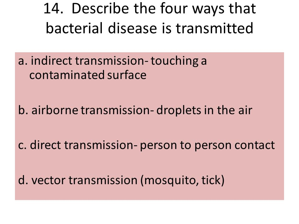 describe the four ways that transposition