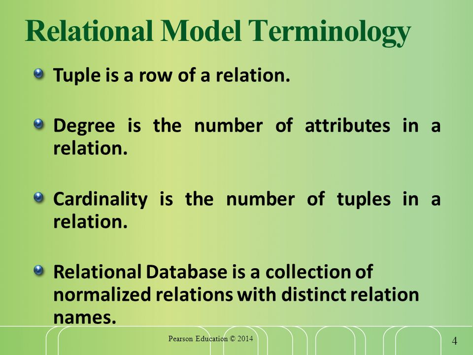 relational database essays More database essay topics figure 1 an example of a relation a key of the relation is an attribute that uniquely identifies a row in the table.