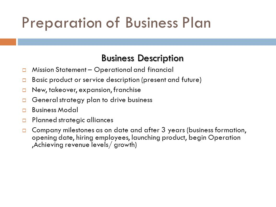 Sample business plan takeover
