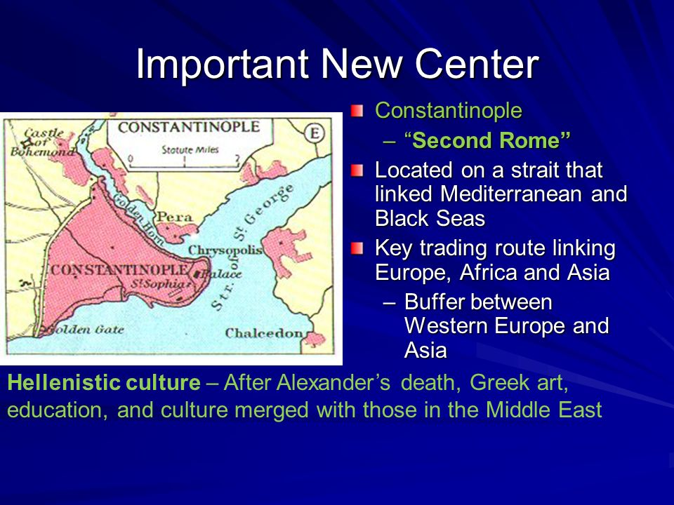 Important New Center Constantinople Second Rome
