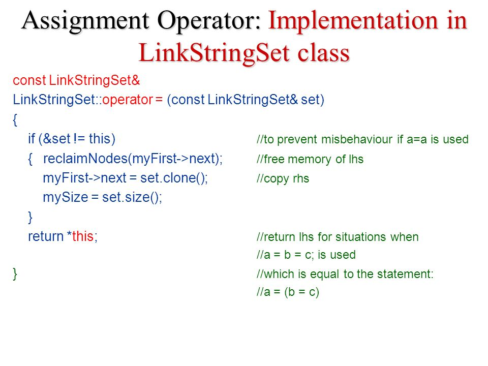 assignment operator in c pdf
