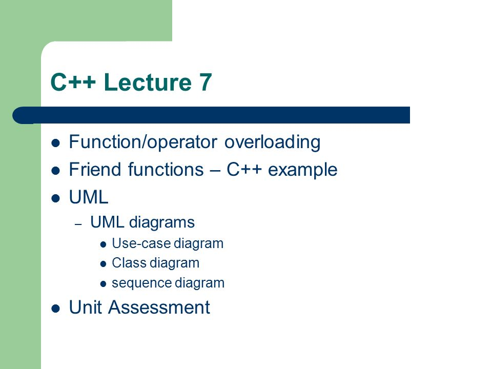 C lecture 7 functionoperator overloading ppt video online download c lecture 7 functionoperator overloading ccuart Choice Image