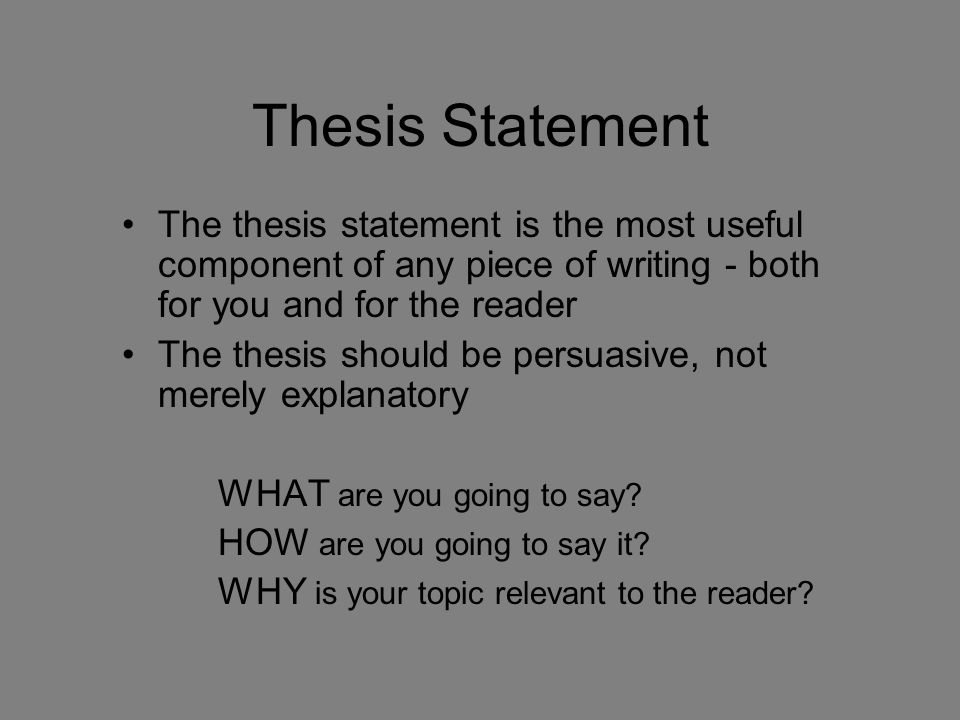 thesis statement for history A thesis or dissertation is a document submitted in support of candidature for an academic degree or professional qualification presenting the author's research and findings in some contexts, the word thesis or a cognate is used for part of a bachelor's or master's course, while dissertation is normally applied to a doctorate, while in other contexts, the reverse is true.