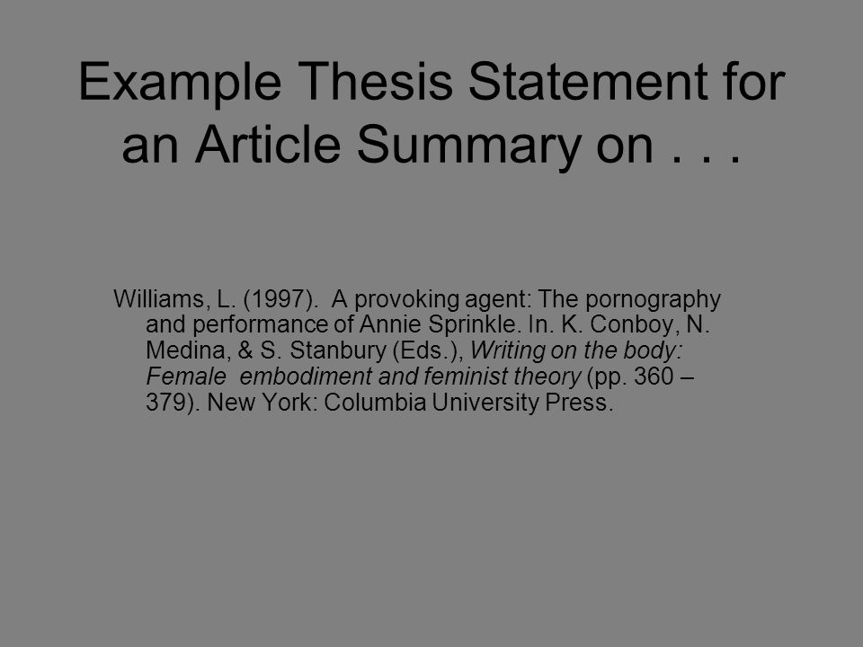 Thesis writing tips history