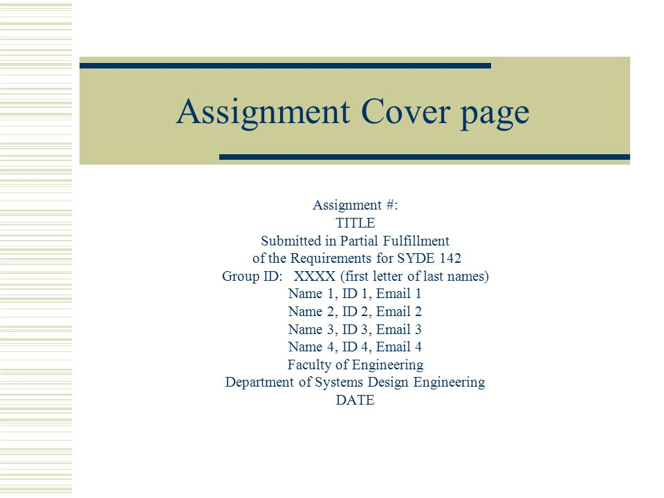 Tutorial 1 case study business in bhopal ppt download for Assignment first page decoration